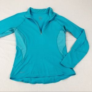 Nike Dri Fit Blue Long Sleeve Pullover, Small